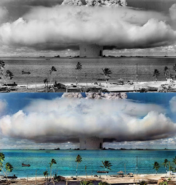 COLOR ADDED TO FAMOUS BLACK AND WHITE PHOTOS