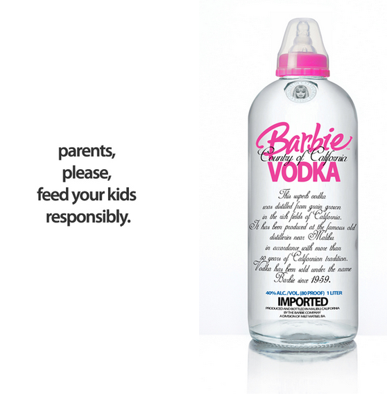 BOOZE BOTTLES BRANDED FOR KIDS
