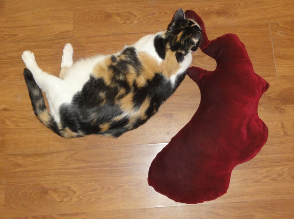 THE BLOOD SPLATTER PILLOW