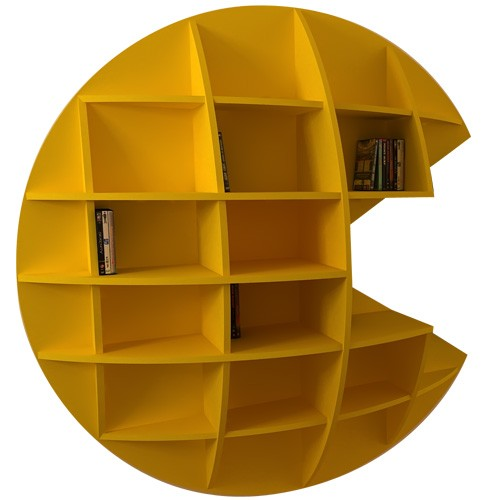 Awesome Kitschy Pac Man Bookshelf