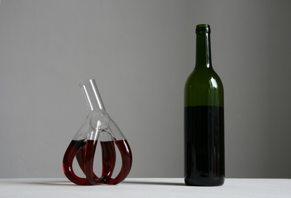 BEAUTIFULLY INTRICATE WINE CARAFES