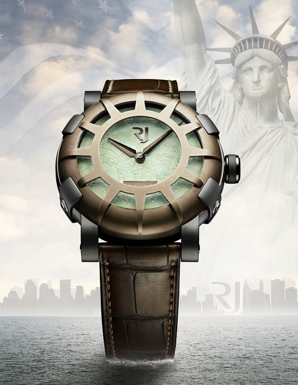 LUXURY WATCH MADE FROM FRAGMENTS OF THE STATUE OF LIBERTY
