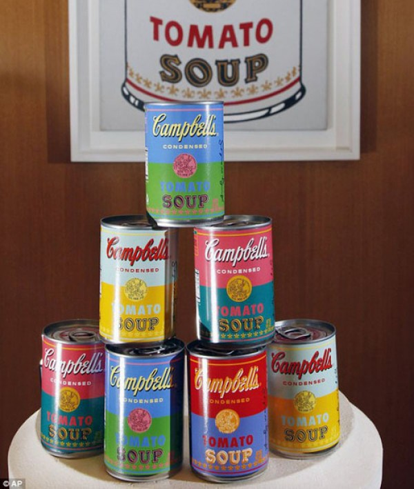 Special Edition Warhol Themed Campbell's Soup Cans