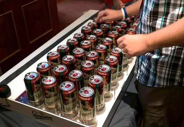 The Crazy 44 Beer Can Computer Keyboard