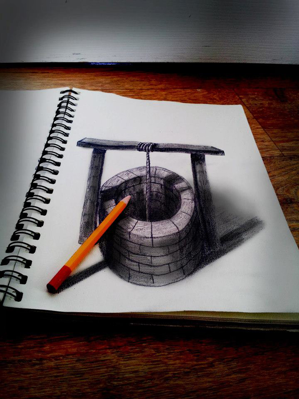10 Amazing Optical Illusion Charcoal Drawings