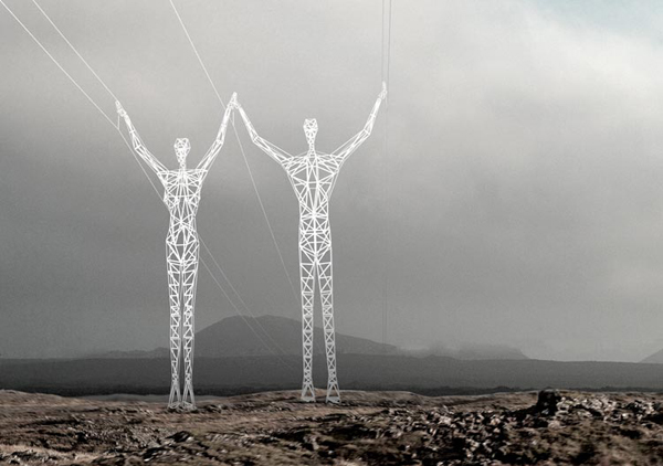 Cool Electrical Tower Design Built In The Human Likeness