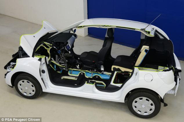 The car that runs on AIR: Peugeot reveals plans for hybrid set to hit the streets next year