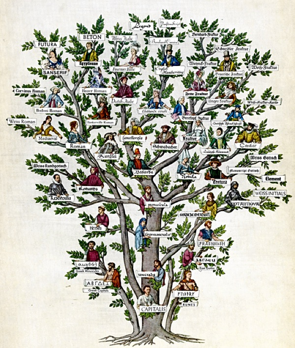 The Family Tree Of Typography