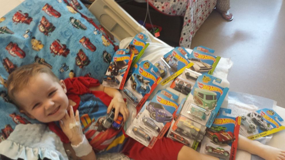 Hot Wheels Roll In From Around The World To Comfort Sick Toddler