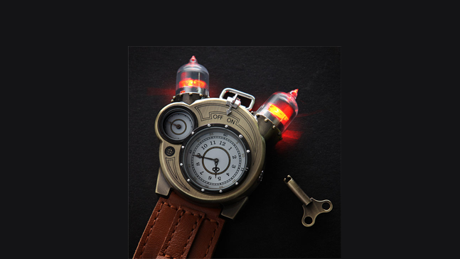 Embrace Your Inner Steam Punk With The Tesla Watch