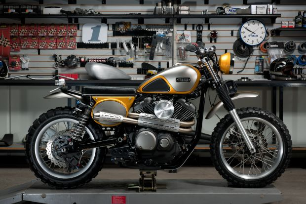 Yamaha and Jeff Palhegyi get inspired by vintage scramblers for the SCR950