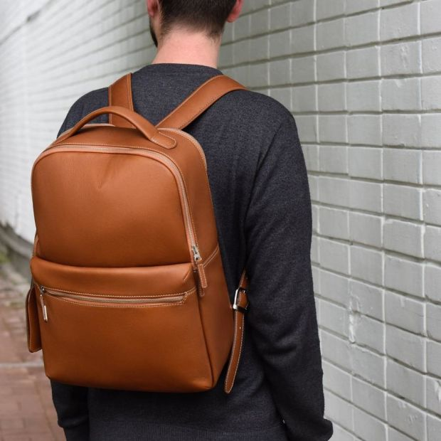 Beckett Simonons Logan backpack is an ultra luxe option for a not so luxe price tag
