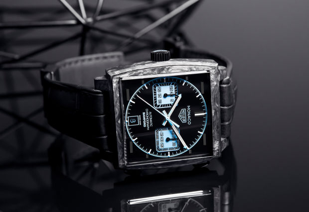 Tag Heuer and Bamford Watch Department team up on a carbon cased Monaco